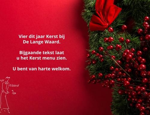 Vier dit jaar Kerst bij De Lange Waard.