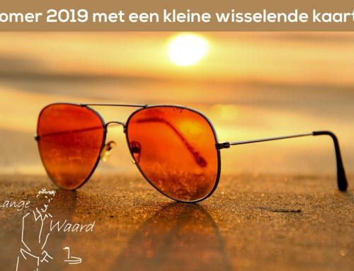 Zomer bij De Lange Waard: Dit jaar eens iets nieuws, namelijk een kleine zomerkaart die regelmatig wisselt.