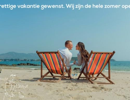 De Lange Waard wenst u een prettige vakantie. Wij zijn de gehele zomer voor u en uw gezelschap open.